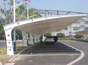 钢膜结构停车棚