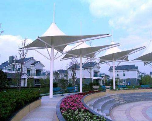 昆山不规则小伞景观膜结构