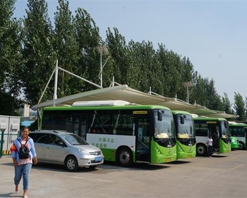 无锡公交公司膜结构充电桩