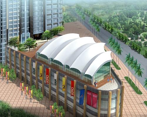 上海广场膜结构设计