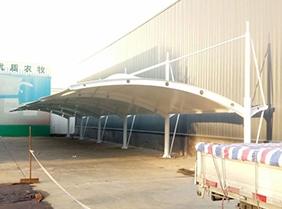 上海小区汽车膜结构停车棚