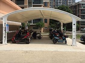 景区电动膜结构车棚