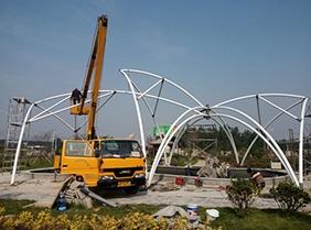 上海广场景观膜结构