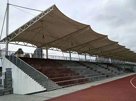 学校操场膜结构看台