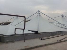 工厂膜结构污水池