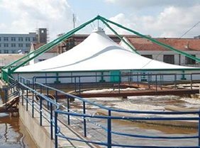 污水厂膜结构污水池